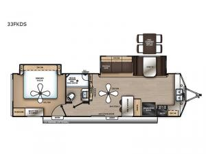 Catalina Destination Series 33FKDS Floorplan Image
