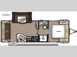 Catalina Summit Series 8 231MKS Floorplan Image