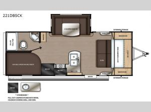Catalina Summit Series 8 221DBSCK Floorplan Image