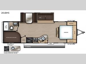 Catalina Summit Series 8 261BHS Floorplan Image