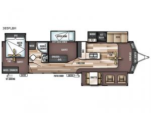 Wildwood Lodge 385FLBH Floorplan Image