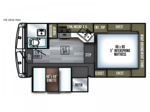 Backpack Edition HS 2910 MAX Floorplan Image