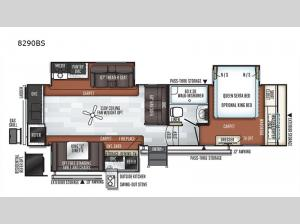 Rockwood Signature Ultra Lite 8290BS Floorplan Image