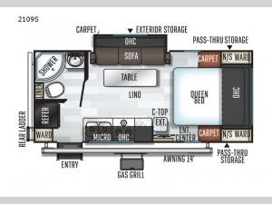 Rockwood Mini Lite 2109S Floorplan Image
