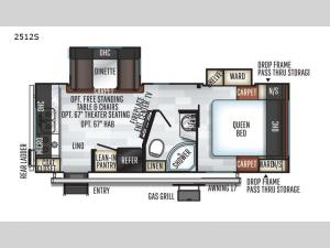 Rockwood Mini Lite 2512S Floorplan Image