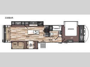 Wildwood Heritage Glen LTZ 338BAR Floorplan Image