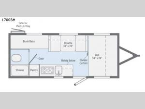 Micro Minnie 1700BH Floorplan Image