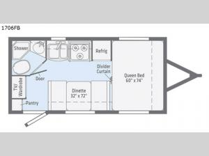 Micro Minnie 1706FB Floorplan Image