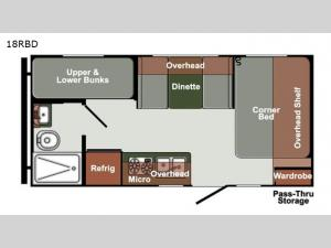 Gulf Breeze Ultra Lite 18RBD Floorplan Image