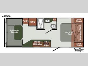 Gulf Breeze Ultra Lite 22UDL Floorplan Image