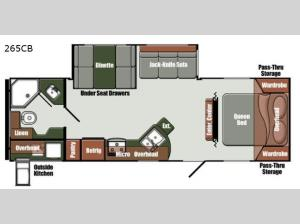 Gulf Breeze Ultra Lite 265CB Floorplan Image