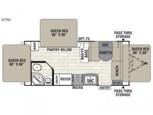 Freedom Express Ultra Lite 21TQX Floorplan Image