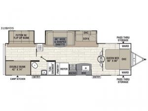 Freedom Express Ultra Lite 310BHDS Floorplan Image