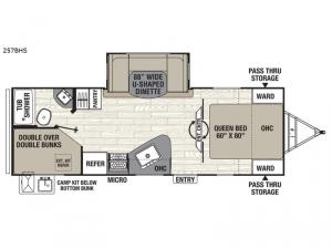 Freedom Express Ultra Lite 257BHS Floorplan Image