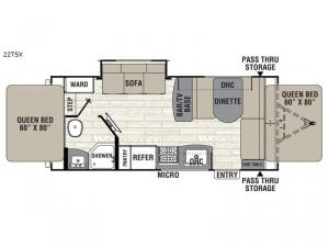Freedom Express Ultra Lite 22TSX Floorplan Image