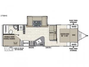 Freedom Express Ultra Lite 275BHS Floorplan Image