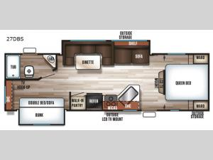 Patriot Edition 27DBS Floorplan Image