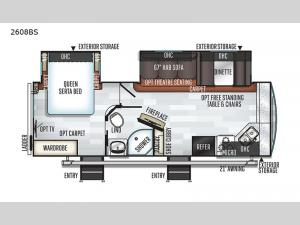 Rockwood Ultra Lite 2608BS Floorplan Image