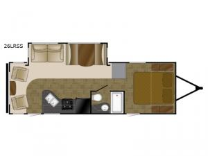 North Trail 26LRSS King Floorplan Image