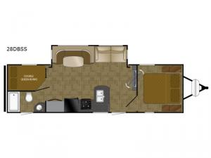 North Trail 28DBSS King Floorplan Image