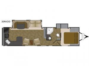 North Trail 30RKDD King Floorplan Image