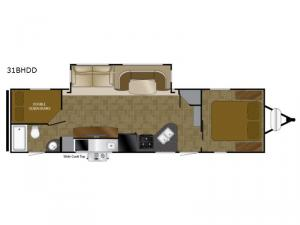 North Trail 31BHDD King Floorplan Image
