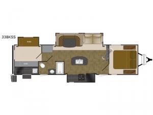 North Trail 33BKSS King Floorplan Image