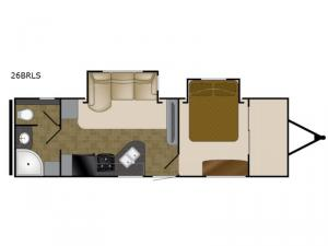 North Trail 26BRLS King Floorplan Image