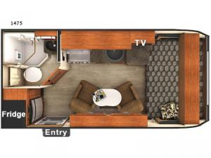 Lance Travel Trailers 1475 Floorplan Image