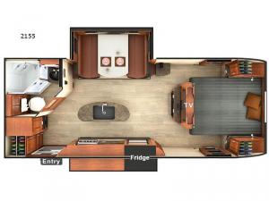 Lance Travel Trailers 2155 Floorplan Image