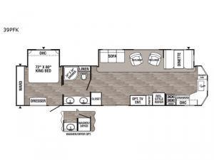 Puma Destination 39PFK Floorplan Image
