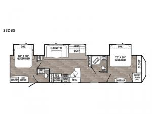 Puma Destination 38DBS Floorplan Image