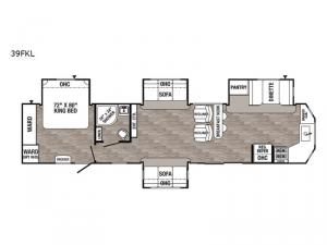 Puma Destination 39FKL Floorplan Image