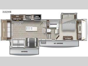 Sanibel 3102WB Floorplan Image