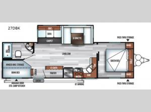 Salem 27DBK Floorplan Image