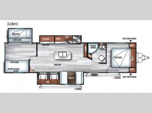Salem 32BHI Floorplan Image