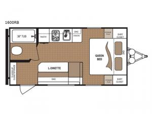 Aspen Trail 1600RB Floorplan Image