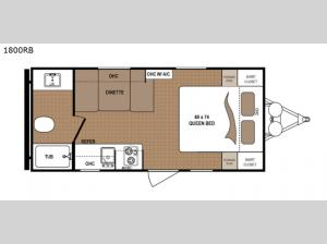 Aspen Trail 1800RB Floorplan Image