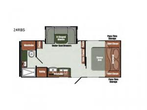 Gulf Breeze Special Edition Series 24RBS Floorplan Image