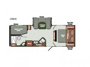 Gulf Breeze Special Edition Series 25BHS Floorplan Image