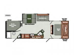 Gulf Breeze Special Edition Series 28BBS Floorplan Image