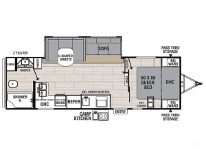 Spirit Ultra Lite 2760RB Floorplan Image