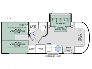 Quantum Sprinter RT24 Floorplan Image