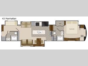 Elite Suites 43 Manhattan Floorplan Image