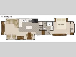 Elite Suites 44 Memphis Floorplan Image