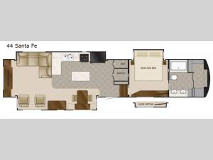 Elite Suites 44 Santa Fe Floorplan Image