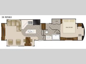 Elite Suites 39 RESB3 Floorplan Image