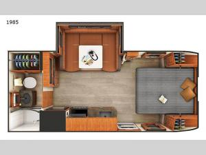 Lance Travel Trailers 1985 Floorplan Image
