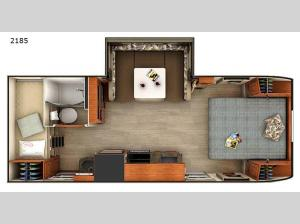 Lance Travel Trailers 2185 Floorplan Image