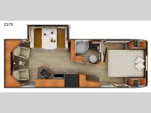 Lance Travel Trailers 2375 Floorplan Image